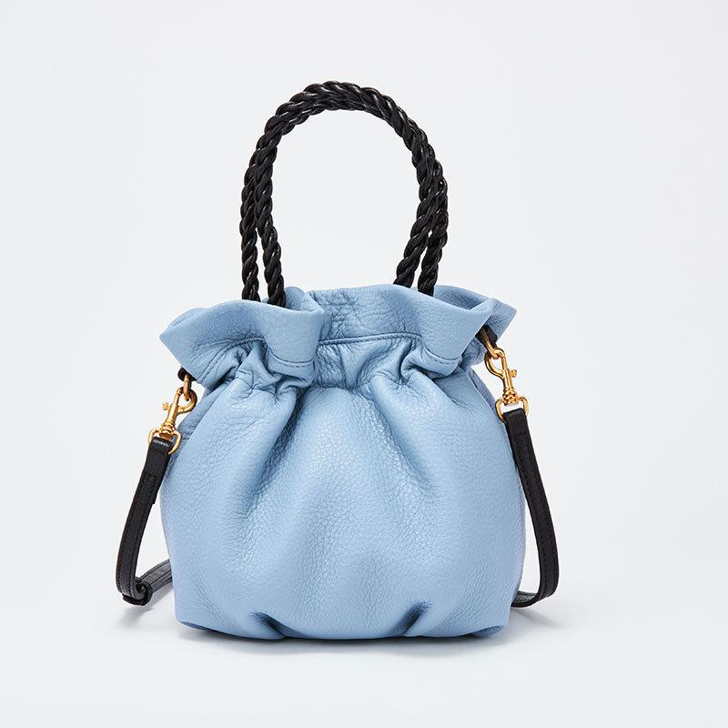 Art2019 Bag Genuine Leather Woman Niche Weave Soft Handbag Bucket Package Hand Carry Packet