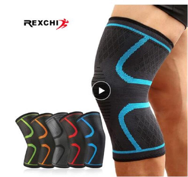 1 PC Elastic Knee Pads Nylon Sports Fitness Kneepad Protective Gear Patella Brace Support Running Basketball Volleyball