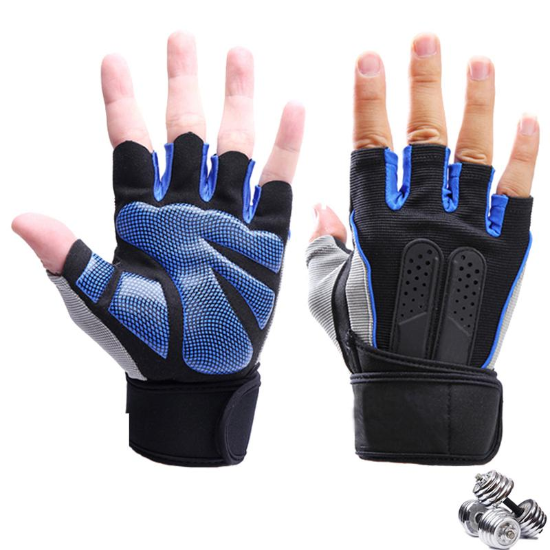 Sports Gym Gloves Wrist Weights Fitness Men And Women Gloves Half Finger Breathable Anti-skid Silica Women Gloves