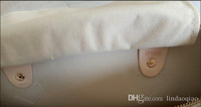 Saco de travesseiro moda saco marrom flor velocidade com couro qualidade mulheres bolsas starp ebene alta 25/30 / 35cm couro couro speedy speedy cpvw