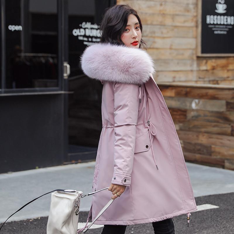 Новые женщины длинные пальто осень зима теплая бархатная сгущает искусственного меха Пальто Parka Женский Твердая Большой карман куртки и пиджаки CJ191213