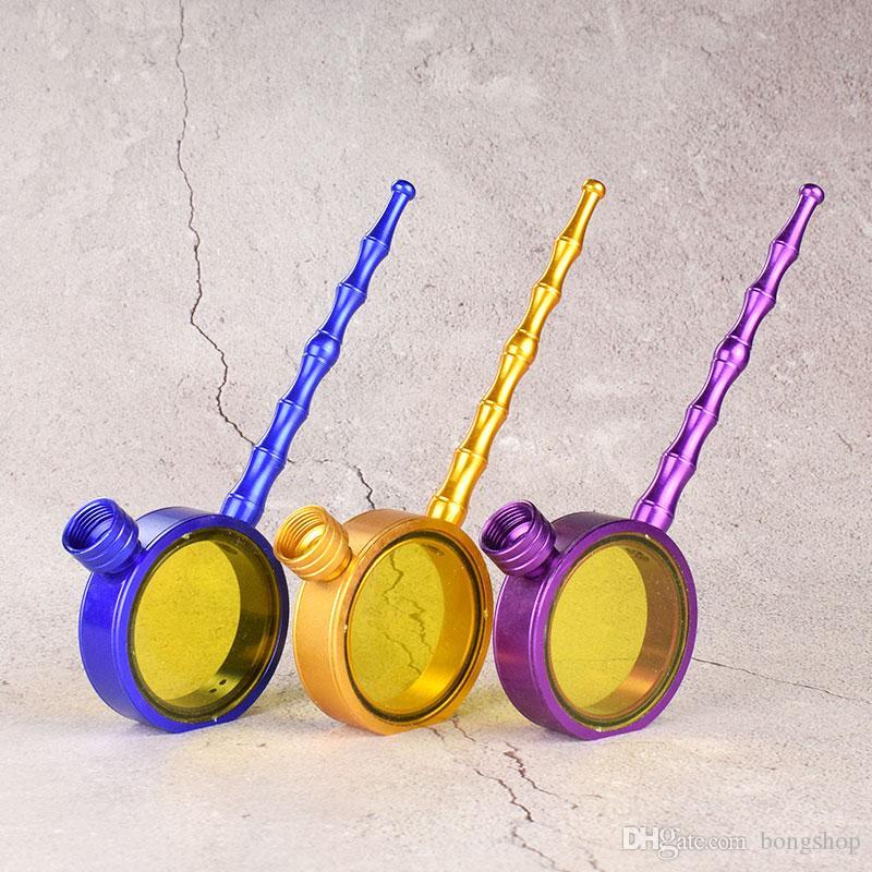 Rauch-Magnet Metallrohre bewegliche kreative Pfeife Herb Tabakpfeife Geschenke Grinder Smoke zufällige Farbe