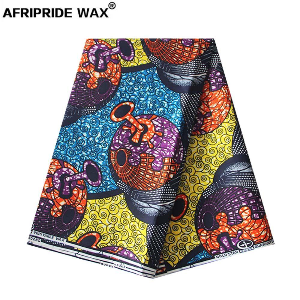 2019 africano ancara impressão tecido atacado 100% bom algodão real tecido brocado cera para roupas um padrão 4 cores A18F0494