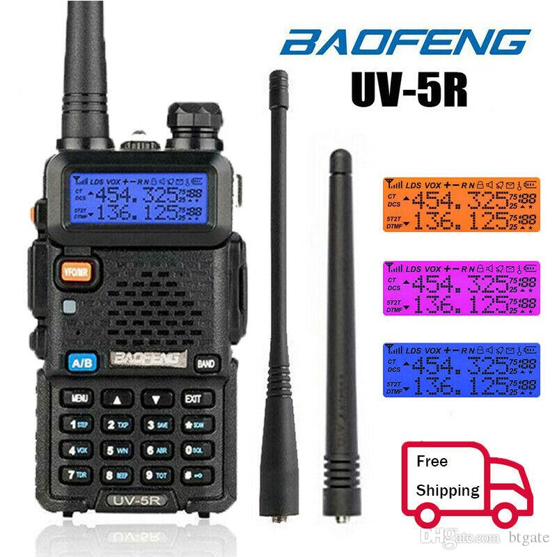Baofeng UV5R UV5R Walkie Talkie Dual Band 136-174MHz 400-520Mhz Two Way Радио трансиверов с 1800mAh батареи