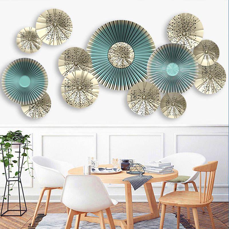 Decalcomanie Da Muro.Acquista Adesivi Murali In Stile Europeo Con Ventagli Adesivi Decorativi Da Parete Adesivi Murali Poster Sala Da Pranzo Creatvie Falso Ulteriori