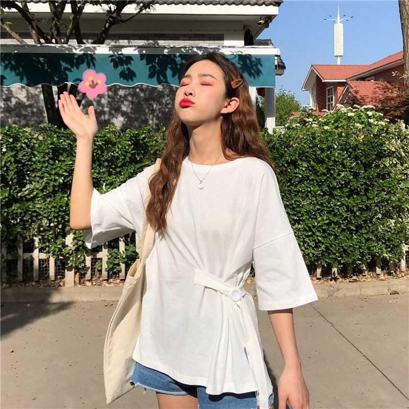 2020 Exceed Fuoco Cec manica corta T Peccato Facile Student Mori Smell Befree Vintage estivo Top Estetica Kawaii maglietta bianca
