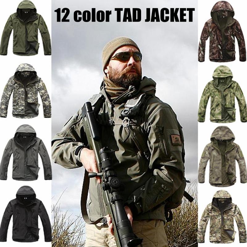 Armée camouflage manteau veste tactique vêtements Outwear Soft Shell imperméable coupe-vent ensemble de veste