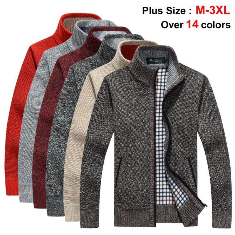 NIGRITY 2020 осень зима мужская Новый свитер куртка толстый теплый Сыпучие Fit Мужской свитер Tops Плюс размер Верхняя одежда 14 цвета факультативных