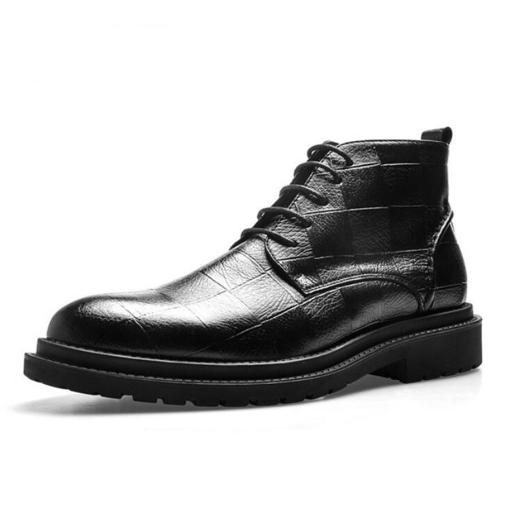 Yeni yüksek top deri Martin ayakkabı, sivri ayak bileği çizmeler martin martin ayakkabı, erkek İngiliz gerçek deri Martin çizmeler 41W10