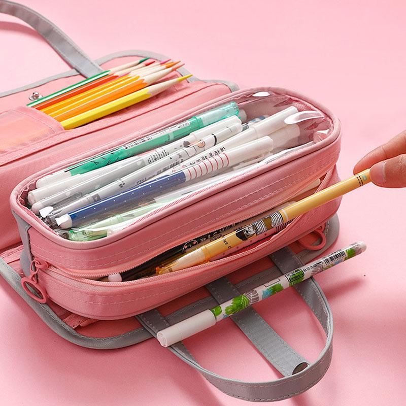 Водонепроницаемая ткань Оксфорд многослойная съемный мешок карандаша молнию сумки простой пенал косметический случай