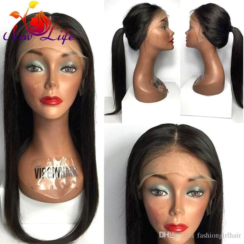 Stock Silky straight synthetic lace front wig glueless black brown synthetic lace front wig for black women heat resistant hair wigs