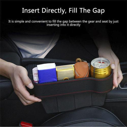 UK Car Seat Slit Gap Storage Catcher Box Pocket Organizer Phone Cup Holder