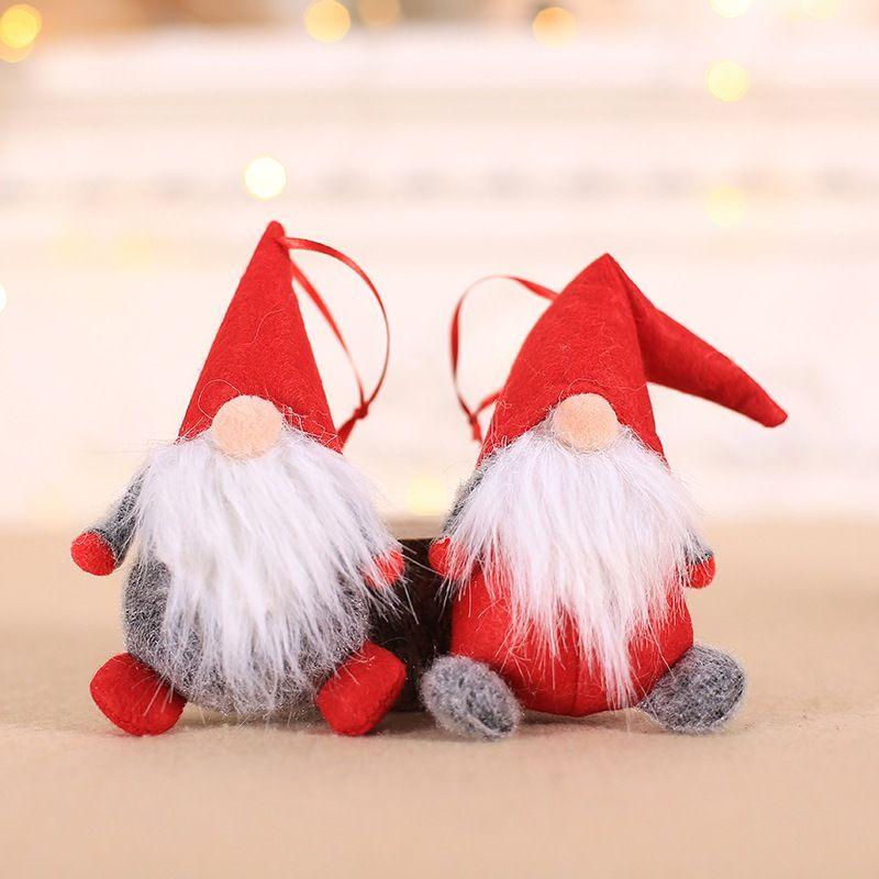 Neue Weihnachtspuppe Ornamente Plüsch Tomte Puppe Dekoration Startseite Wedding Xmas Party Decor für Kid Red Weihnachtsbaum Ornament