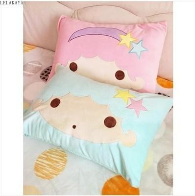 2020 Cute Little Twin Star Pillow Case Home Bedroom Pillows Cover Cartoon Decorative Pillowcase Plush Soft Stuffed Sakura Bedding Toy Y200703 From Luo07 8 86 Dhgate Com