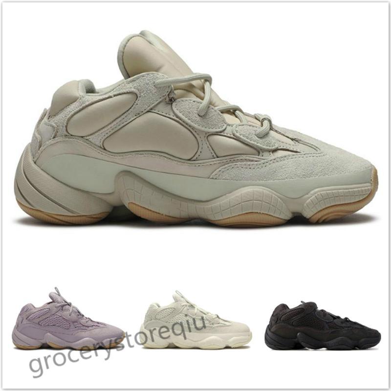 Kanye West 500 morbida Vision scarpe da ginnastica Designer Supermoon giallo scarpe da corsa utilità nero uomini donne scarpe sportive Salt