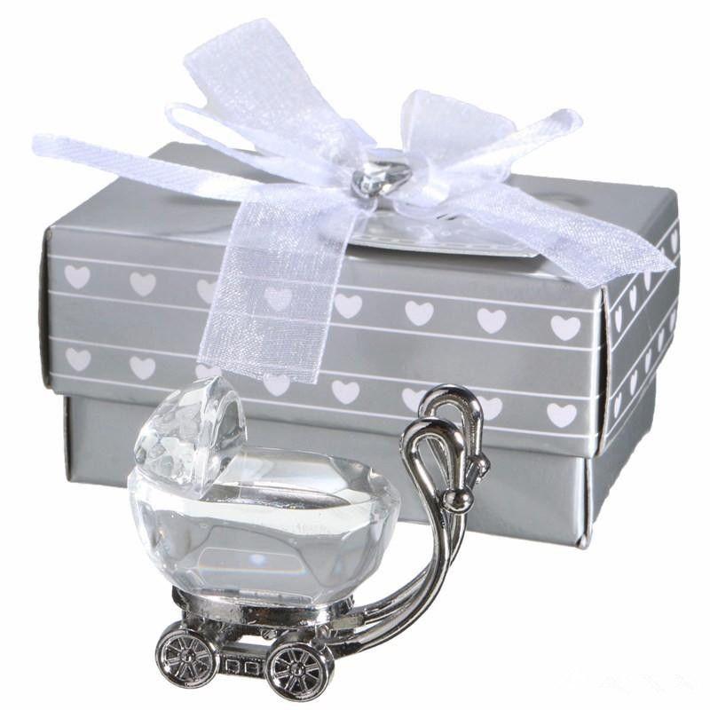 Индийский Кристалл Baby Shower сувениры подарки для гостей Кристалл детская коляска подарок партия сувениры детские сувениры EEA405