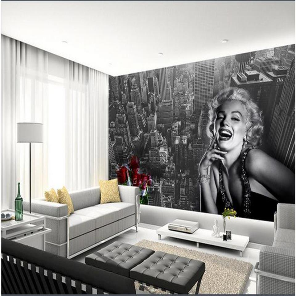 Custom Size 3d Photo Wallpaper Living Room Mural City Rose Flowers