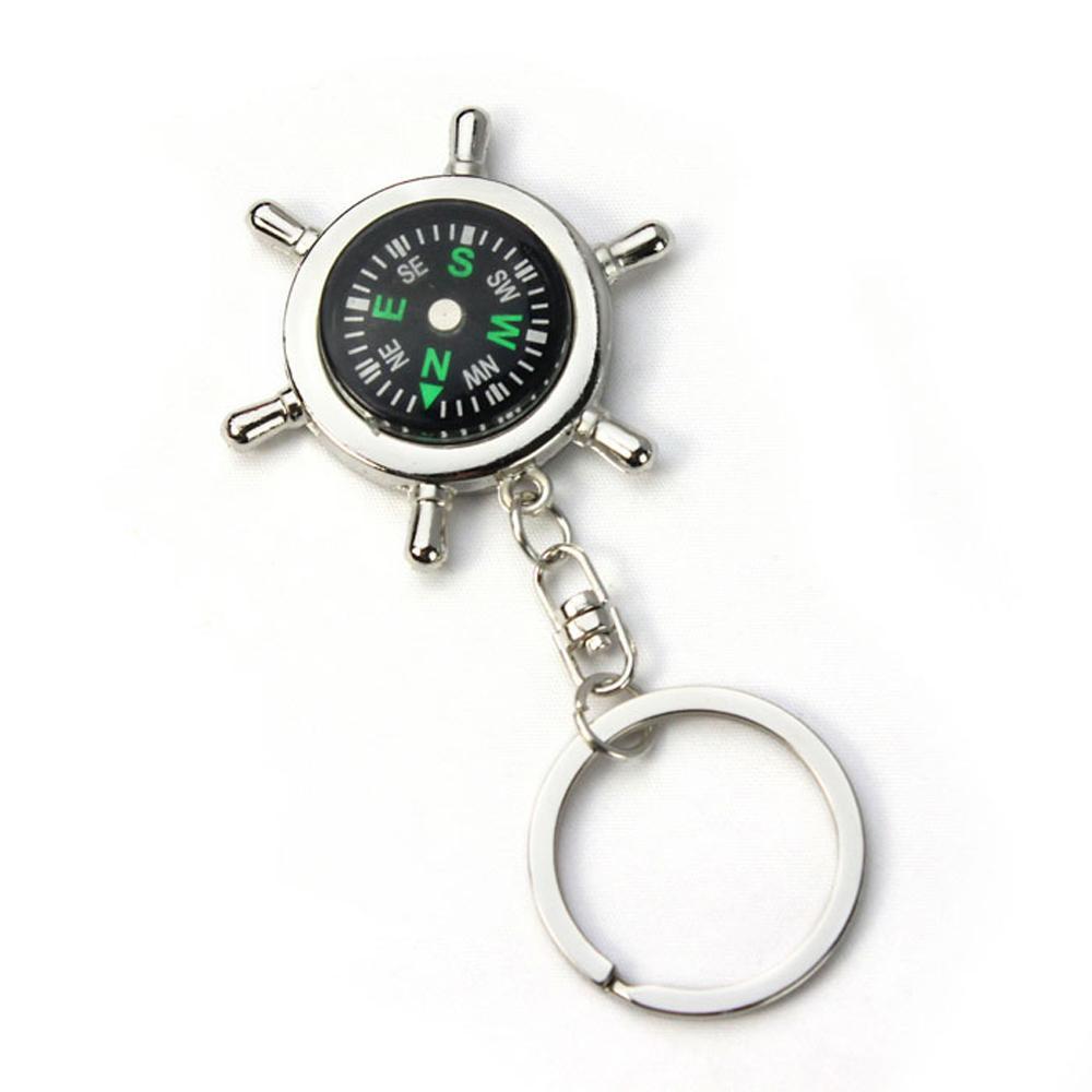 Новый творческий дизайн портативный сплав Серебряный компас брелок открытый туризм кемпинг навигационный гаджет мужской брелок подарки.