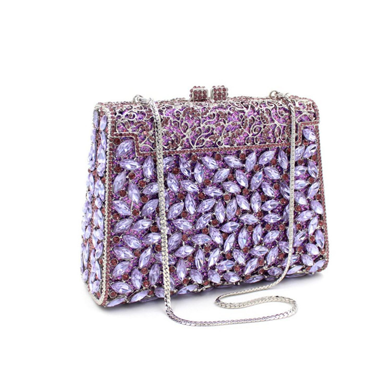 Borsa frizione fuori borsa Borsa da sera Hollow for Color Bag Personalizzato Party Rhinestone cristallo sera in cristallo borsa da sposa donne donne vreh
