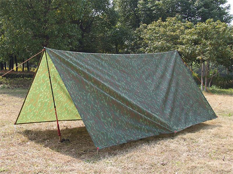 Outdoor Waterproof Military Camping Tent Tarp Sun Shelter Rain Cover Awning