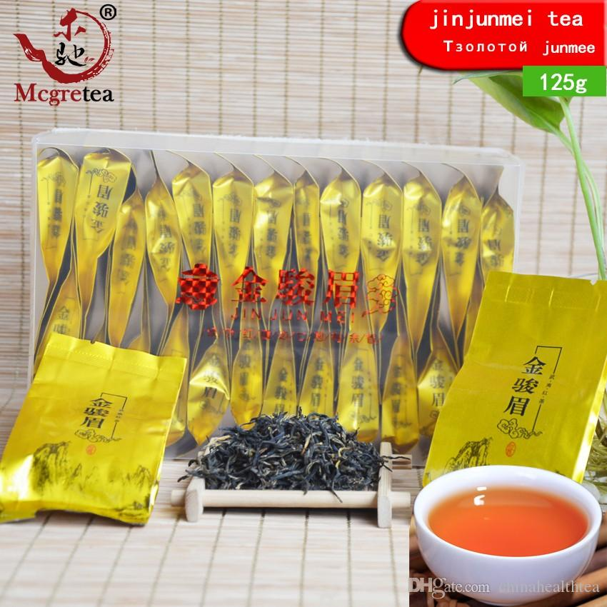 Frete grátis 2020 New 125g Sachet 25 sacos pequenos China Chá Preto Wuyishan ouro Junmei Longan incenso bom chá Jinjunmei Venda
