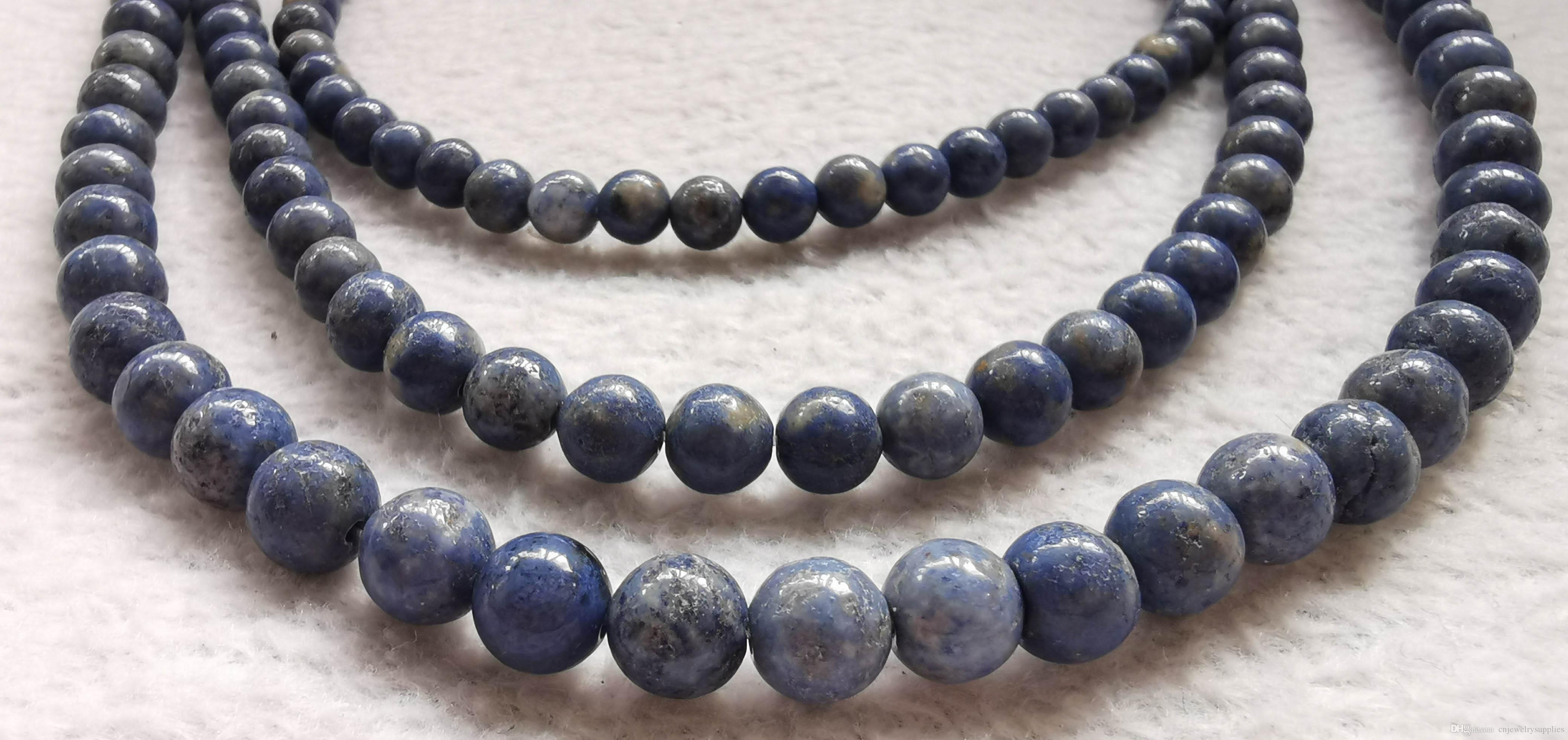 "Natural Lapis Lazuli Beads Matte Round ball natural lapis Gem 4mm 6mm 8mm 10mm 12mm Loose Beads 16"" Strand"
