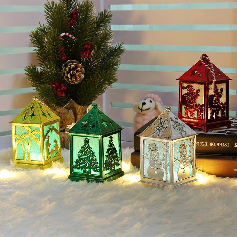 New 2020 Christmas Decorations 2020 Christmas Tree Decoration LED Hanging Wooden House Fairy