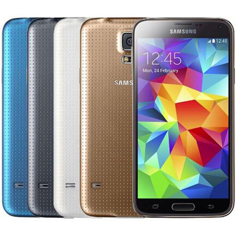 Refurbished Original Samsung Galaxy S5 G900F G900A G900V G900T G900P 5.1 inch Quad Core 2GB RAM 16GB ROM 4G LTE Unlocked Phone DHL 1pcs