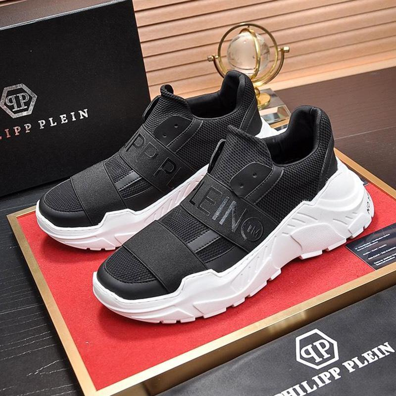 فاخر أحذية الرجال عادية عداء الجمجمة لو -Top أولي بيان هيرين أحذية وبيع والأصل صندوق أحذية الرجال تنفس SCARPE دا أومو