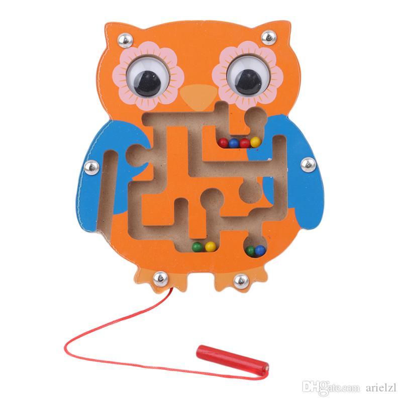 Kinder Tier Magnetic Maze Spielzeug Kinder Holz Puzzle Spiel Frühe Pädagogische Denkaufgabe Intellektuelle Jigsaw Board