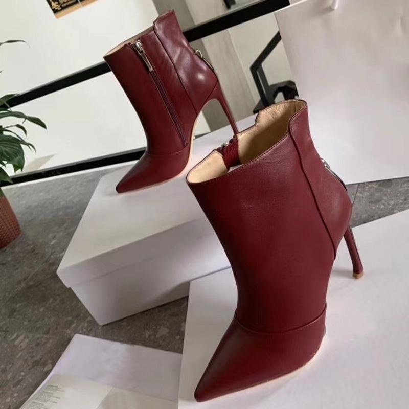 Las últimas mujeres de las botas de diseñador Martin desierto bota de cuero real de los zapatos del invierno