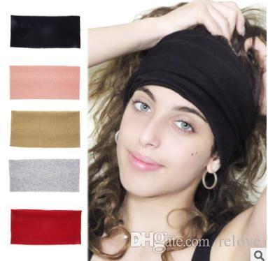 Retro Elastic Headband Women Winter Knitted Head band Ear Warmer for Lady Crochet Wide Stretch Headwrap wash face Turbans