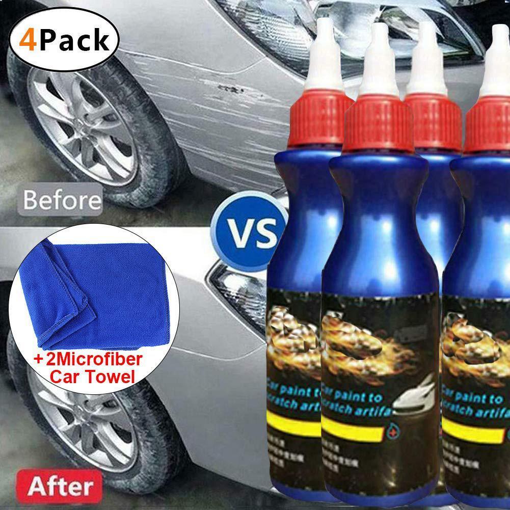 4pc Paint Scratch Repair Agent Polishing Wax Paint Scratch Repair Remover Care Polishing Paste Wax Anti -Scratch Car Polish