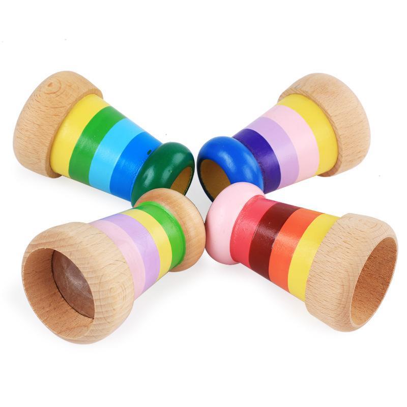 Giocattolo educativo magico di legno del caleidoscopio di magia per i bambini che imparano il regalo del giocattolo della novità delle ragazze del neonato del giocattolo di puzzle che spedice liberamente