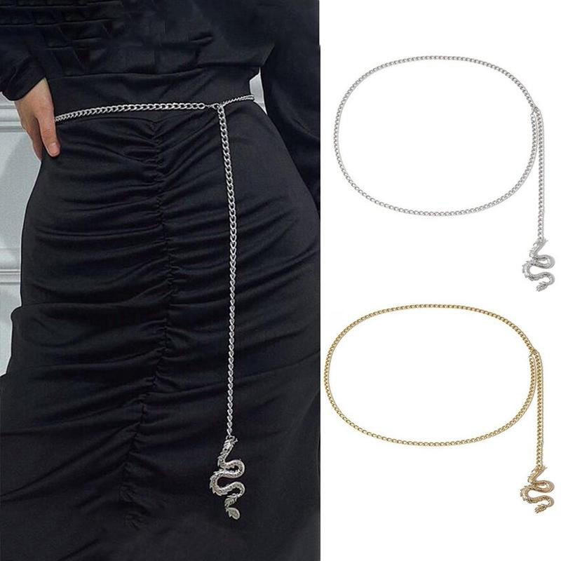 Femmes Retro Métal Pendentif chaîne taille ceinture robe ceinture chaîne Body Fashion Ceintures