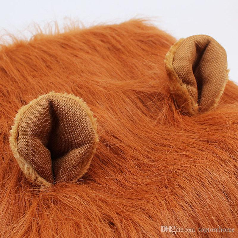 Dogs Lion Hair Ornaments Pet Halloween Party Decoration Clothes Halloween Clothes Fancy Dress Up Lion Mane Wig Fast delivery