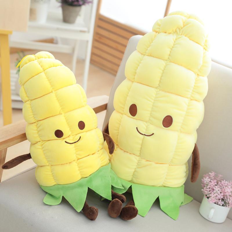 Dropshipping mignon en peluche maïs de maïs en peluche oreiller peluche nourriture Coussin Poupée Plushie mascotte pour bébé Enfants