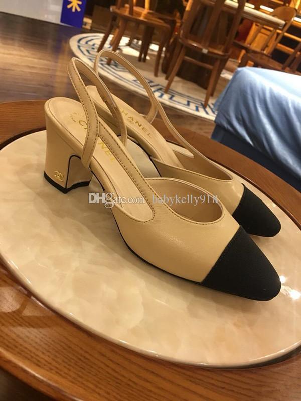 Top Tacchi di lusso donne di seta pompe del cuoio genuino pattini Slingbacks partito della punta della caviglia con fibbia Strap Sandals Mujer