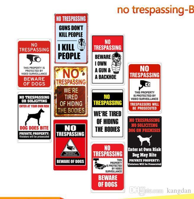 warning No Trespassing Siamo stanchi di nascondere i corpi Vintage tin sign bar home Poster decorativo in metallo retrò