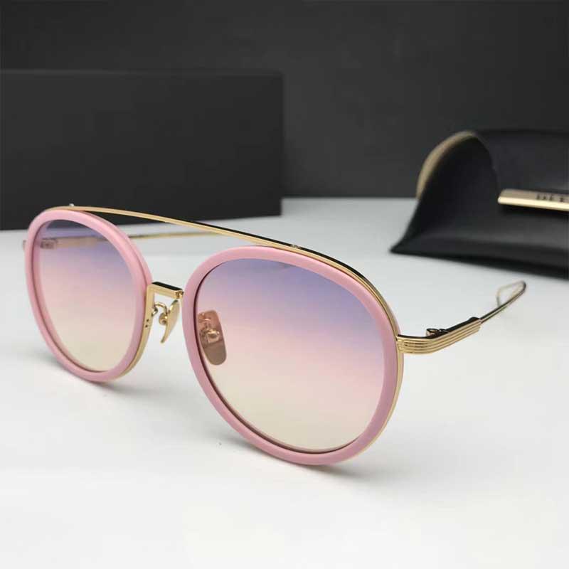 2019 Американского дизайнер овального золотой проволоки очки женщины моды очки ретро старинные очки ДВА с бесплатной коробкой и коробкой