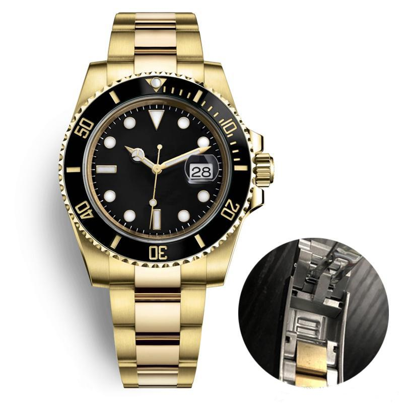 mens relojes de lujo de cerámica bisel original de Gliding pulsera de acero inoxidable automático de zafiro reloj mecánico de natación luminosos de pulsera