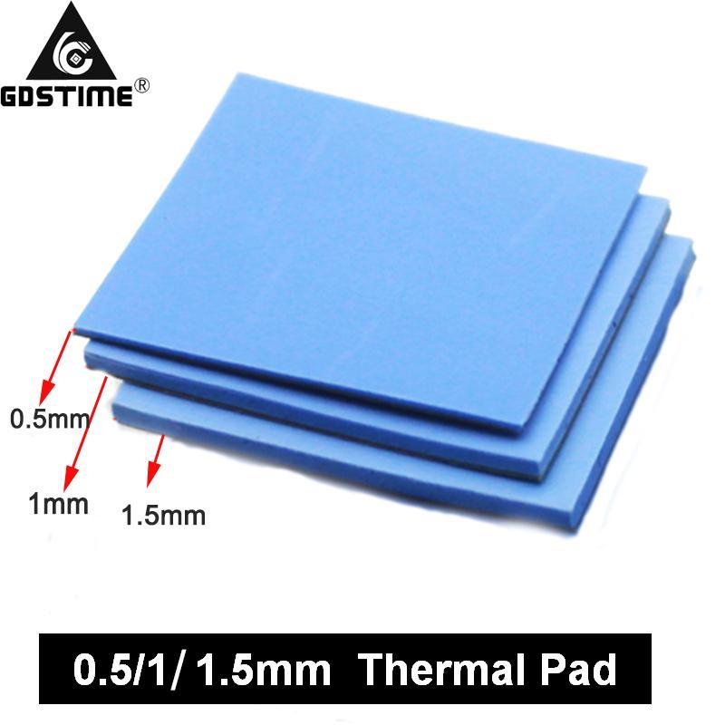 팬 팬 3 PC를 노트북의 경우 100 * 100 0.5 1mm 1.5mm의 조합 열 전도성 실리콘 패드 히트 싱크 냉각 패드 냉각