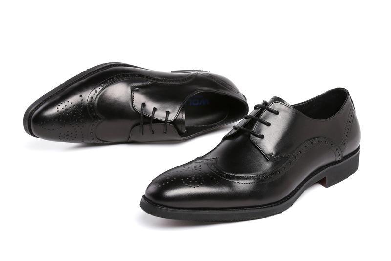 Formale indossare scarpe di cuoio da uomo scarpe da sposa comodi Lace-up Scarpe in pelle Scarpe De Hombre Oxfords Chaussure Homme
