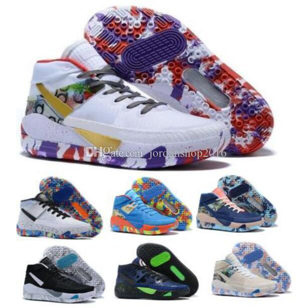 2020 New Arrival Kd Kds 13 13s Mens Basketball Shoes Kevin Durant Home Team Planet of Hoops Purple Camo Sole Scarpe Trainers Sneakers