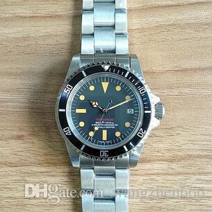 new Wristwatch Vintage #5514 china Movement Automatic Mechanical Movement Stainless Steel Fashion Men's Watch Wristwatch