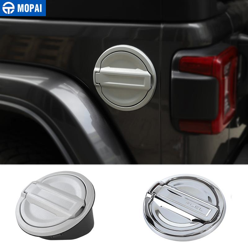 Chrome Car Gas Fuel Tank Cap Cover for Jeep Wrangler JL 2018 Up Car Accessories