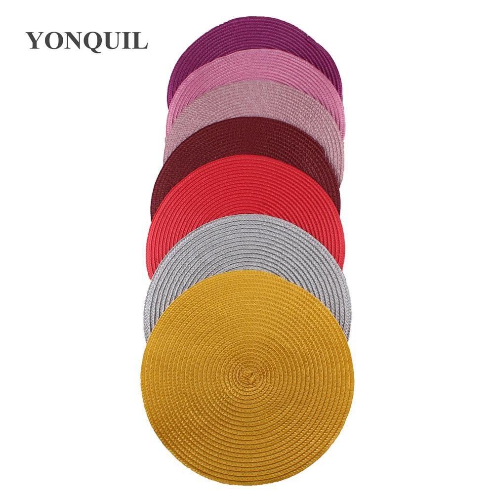 Più colore 25 cm di diametro fascinators basi per le donne fai da te dei capelli molto SYB35 12pcs gli accessori delle signore di modisteria cappello base di fascinator /