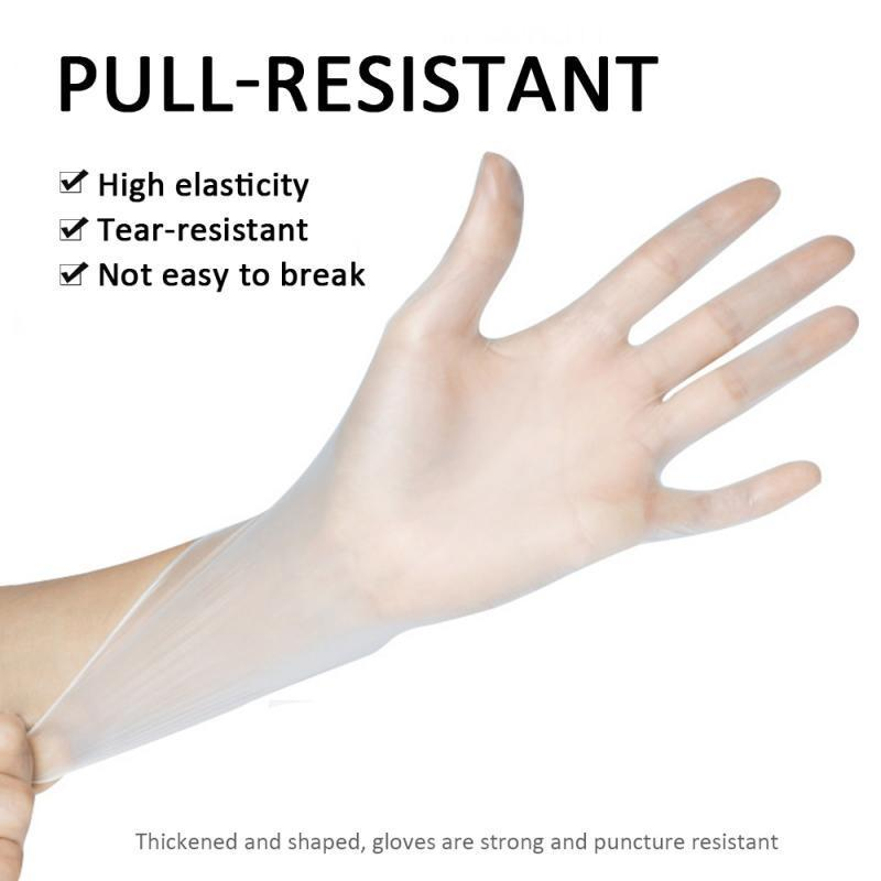 Pack Of 100 Strong elastic pull,Latex Nitrile Rubber PVC Gloves With Thickening Disposable Nitrile Gloves