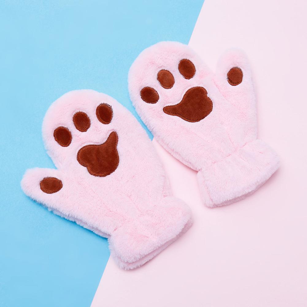 MISSKY Детские перчатки зимние лыжи варежки Теплый мультфильм Cat Claw сгущаться Бархатные Мальчики Девочки Дети перчатки