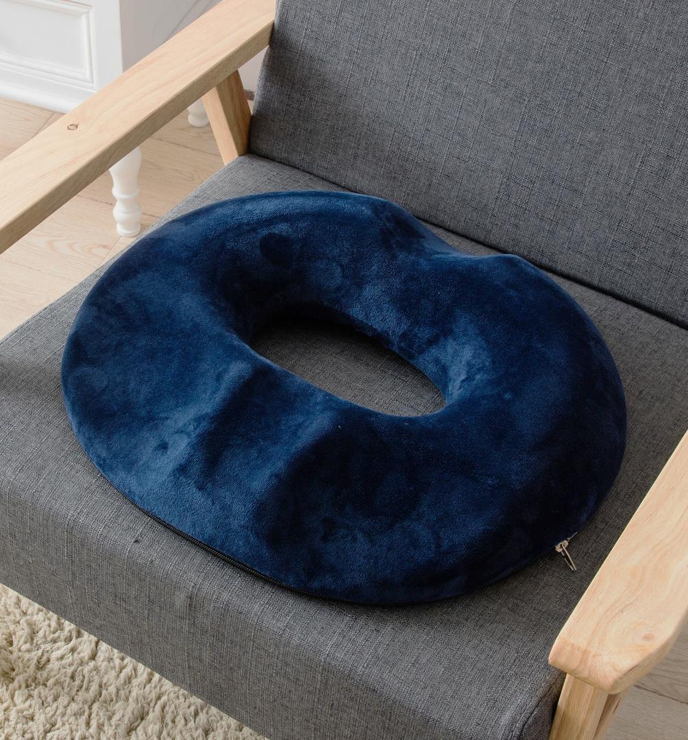 en forma de ronda cojín de terciopelo Tela de carbón de bambú Oficina de memoria interno de la base del algodón de la memoria de algodón anti-decúbito del amortiguador de asiento